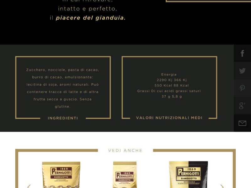 concept Website Pernigotti - Sottomarini