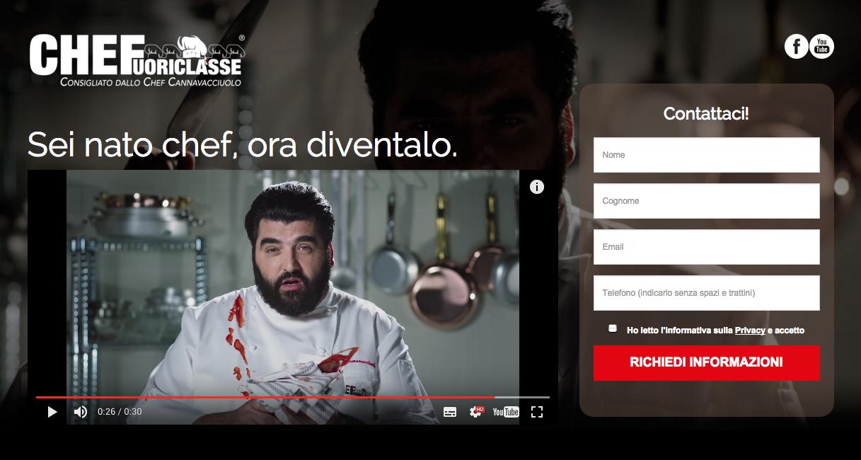 Landing Page CheFuoriclasse - Sottomarini - Lorenzo Marini - Antonino Cannavacciuolo