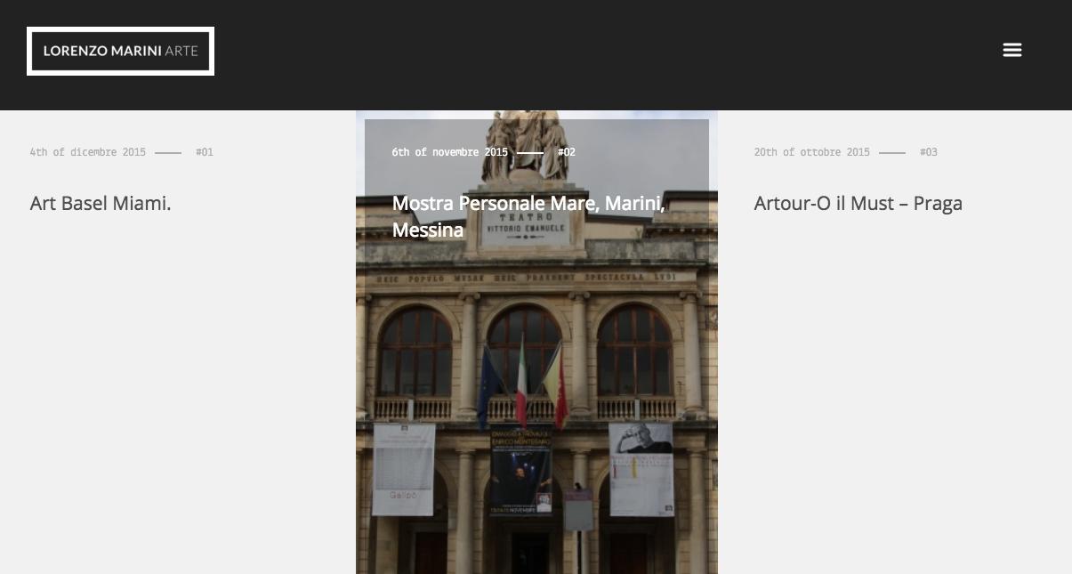 Sottomarini Digital – Website Lorenzo Marini Arte